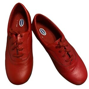 Dr.Scholls Womens Size 7.5W Red Lace Up Shoes Advanced Comfort Oxfords E6Y-25