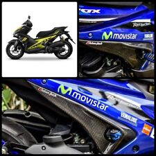 Carbon SIDE FOOT REST COVER UNDER SEAT FOR YAMAHA AEROX NVX 155