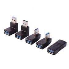 5pcs/Pack Converter Adapter USB 3.0 A Male to A Female 90 Degree Angle Plug Set
