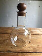 Glass Teak Decanter Carafe MCM Modernist Dansk?