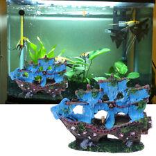 Aquarium Ornament Resin Sailing Boat Sunk Ship Fish Tank Aquarium Decoration