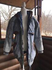 80s Vintage East West Acid Wash Slouch Long Jacket Sz S Paisley Lining