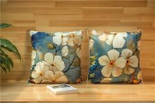 BN water painted flower cushion cover SILKY FEEL