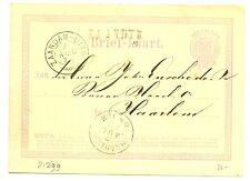 NED  EGYPT LANGST = ZAANDIJK =  1872  BRIEFKAART   VW PR EX