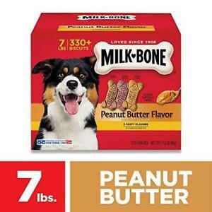 Milk-Bone Peanut Butter Dog Treat Small 7 Lb. 3 Tasty Peanut Butter Flavors