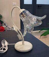 LUMETTO LAMPADA DA COMODINO ABAT JOUR 1 LUCE con sfere design swarovski