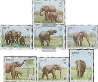 Laos 1026-1032 (kompl.Ausg.) postfrisch 1987 Elefanten