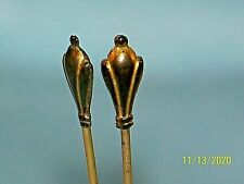 Victorian Lot Of 2 Painted Hat Pin Stick Pins