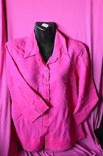 ladies preowned 3/4 sleeve top by equinox size 10 colour pink