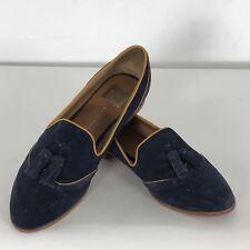 DV by Dolce Vita 10 M Navy Blue MillieOxford Tassel Slip-On Low Rubber  Heel