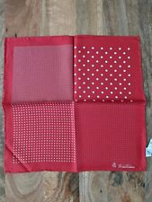 Brooks Brothers Red Dots Pocket Square Pure Silk New in Package