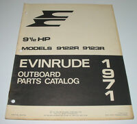 Parts Catalog Evinrude Outboard Ersatzteilkatalog 9,5 / 9 1/2 HP 9122R 9123R!