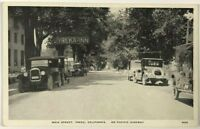 1910s 1920s CA Postcard Main Street View Yreka California Pacific HWY Cars Inn