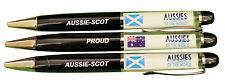 PROUD AUSSIE - SCOT AUSTRALIAN METAL PEN SCOTLAND SOUVENIR GIFT FLOATING FLAGS