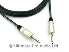 "1.5 m Jack to Jack 1/4"" 6.35mm Amp Cab Speaker PA lead Neutrik Rean 2 Core 1.5mm"
