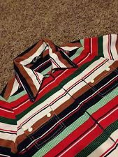 VTG 70's Jack Winter Zip Up Shirt Striped Multi Color Rare tour concert rock