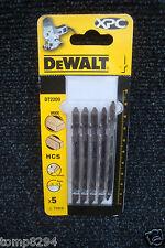 PACK OF 5 DEWALT XPC WOOD CUTTING JIGSAW BLADES DT2209 T101D