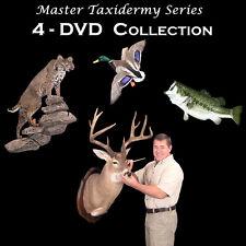 Learn Taxidermy Videos on  4-DVD's - Deer, Fish, Duck, Bobcat