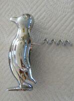 Penguin Corkscrew Chrome Plated Opener Wine Bottle Folding Screw Heavy