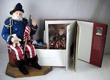 "Civil War Era Santa Claus 19"" sculpted Brenda Goin Morris 2000 OOAK doll + book"
