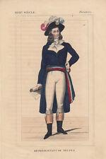 Uniform Deputé Directoire 18. Jahrhundert Frankreich Lithografie 1850
