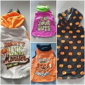Halloween Themed Dog Hoodie Spooky Outfit Hooded Jumper Costume XXS XS S M L