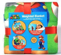 "1 Count Franco Manufacturing Co Super Mario 36"" X 48"" 4.5 Lbs Weighted Blanket"