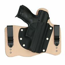 FoxX Leather & Kydex IWB Hybrid Holster Hi-point C9 Natural/Tan Right Conceal