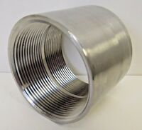 """New 3"""" FNPT Straight Coupling 304 Stainless Steel Class 150"""