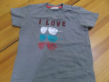 CAMISETA I LOVE COLOR GRIS TALLA 24 MESES