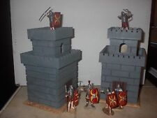 toy soldiers roman sentry watch towers x 2 54mm wood