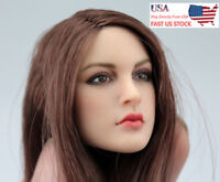 US 1/6th KIMI TOYS female Head Sculpt Match Phicen Suntan TBleague Body Model