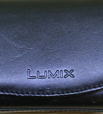 Panasonic Lumix Black Leather Camera Case for smaller camera -Belt loop built in