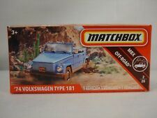 """Matchbox  '74 Volkswagen Type 181 """"Thing"""" Superfast Power Grab blue in color"""