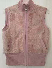 St. John fur lamb wool pink vest Sz medium