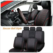 Classic Soccer Ball Style Car Seat Covers Jacquard Fabric Universal Fit Most Car