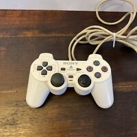 Sony OEM DualShock Controller White For PlayStation 2 PS2 WORKS GREAT Authentic