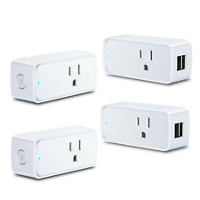 4 Pack WiFi Smart Plug APP Remote Control Timer Outlet Power Socket US Plug