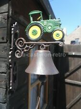 Cast Iron Green Tractor Bell