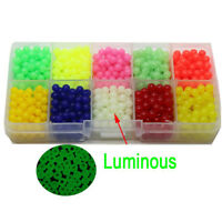 1000PCS OVAL LUMINOUS FISHING BEADS SEA FISHING LURE FLOATING FLOAT TACKLE SUPRE