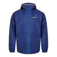 Berghaus Deluge Light Mens Waterproof Full Zip Hooded Jacket Coat Blue