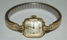 VINTAGE LONGINES WIND UP 10K GOLD FILLED D&A LADIES WRIST WATCH FLEX BAND