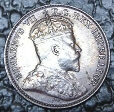 OLD CANADIAN COIN 1902 H - LH/SH - 5 CENTS - SILVER - Edward VII - Rainbow Tone