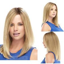 2017 Medium Straight Hair Bob Wigs Dark Root Blonde  For Women Perrruque WIG