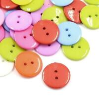 Packet 50+ Mixed Acrylic 16mm Round 2-Holed Sew On Buttons HA09495