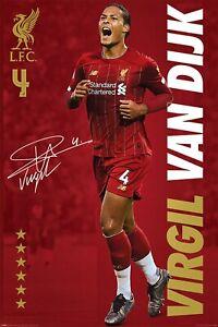 Liverpool FC Poster Virgil van Dijk Poster Liverpool FC A4 Poster FIFA 22