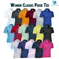 Ladies Poloshirt Uneek UC106 Casual Plain Workwear Tee Classic Womens Polo Shirt