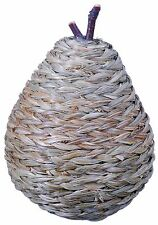 Woven Straw Pear Natural Green Country Fruit Craft Floral Decor Filler New  627x