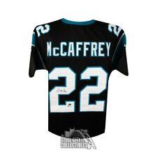 Christian McCaffrey Autographed Panthers Black Custom Football Jersey - BAS COA