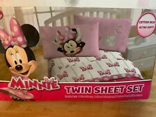 Disney Junior Minnie Mouse Pink Bow Twin Bedding 3 Pc Set - New